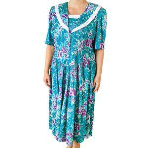 Lisa II Vintage 80s Cottagecore Prairie Dress